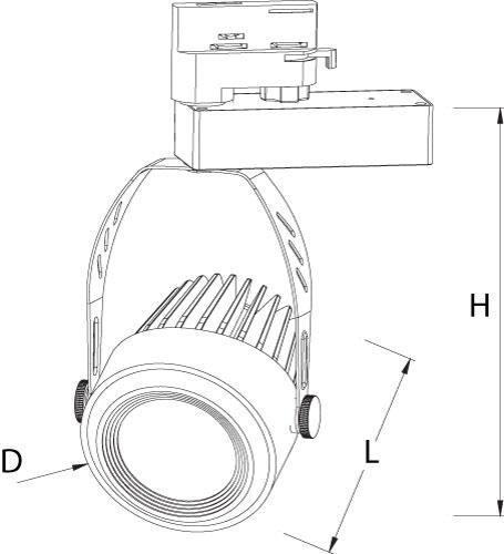 led 3 Phasenstrahler_size TBRW4042302700B